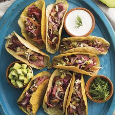 Pastrami Tacos with Pickled Vegetables