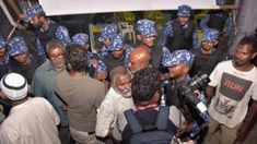 Maldives orders army to resist any Supreme Court impeachment order       4 February 2018                            Image copyright                  AFP             Image caption                                      Police broke up opposition celebrations of a Supreme Court ruling on Friday     ...