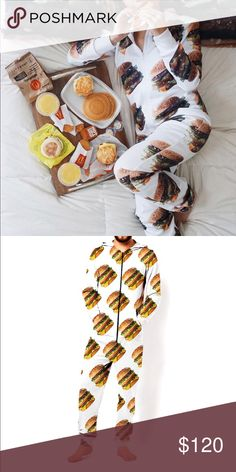 McDonalds Hamburger Onesie • brand: mcdonalds  • condition: brand new. worn once for photo.   • size: s/m  • description: hamburger printed onesie from mcdonalds. limited edition.   bundle to save! no trades/holds/try-ons. no price negotiations in the comments. always happy to work with offers.  ✨happy shopping!✨ mcdonalds Pants Jumpsuits & Rompers