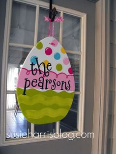 not a wreath, but still great on the front door for Easter.