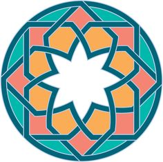 Star flower in a circle teal orange coral Clipart Star flower in a circle teal orange coral Clipart Clipart of Star flower in a circle teal orange coral - Search Clip Art, Illustration Murals, Drawings and Vector EPS Graphics Images - Islamic Motifs, Islamic Art Pattern, Arabic Pattern, Geometry Pattern, Geometry Art, Pattern Sketch, Pattern Art, Art Patterns, Arabesque Pattern
