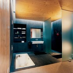 This looks like a pretty manly bathroom