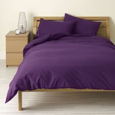 Wilko Ribbon Duvet Set Purple Kingsize