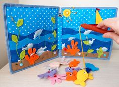 Magnetic Fishing Game Pad Quiet Book Busy от CuteGiftsAndCrafts