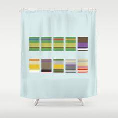 Minimalist Ninja Turtles Shower Curtain