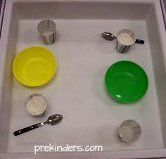 Flour Mixing in the sensory table