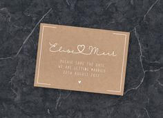 ",,Save the Date"" Postcard, Wedding, Printable, Rosegold, Digital PDF"