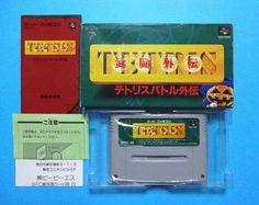 Tetris Battle Nintendo Super Famicom Japan FREE Shipping SNES SFC Used