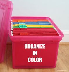 25 tips and ideas to organize your home, organizing, Organize in Color