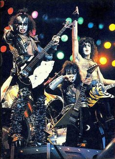 1982, KISS: Gene Simmons, Vinnie Vincent, Paul Stanley