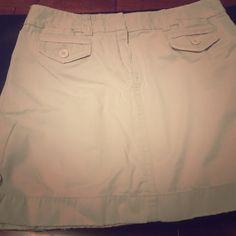 """J Crew chino skirt 13"""" J Crew cotton chino skirt (stone) J. Crew Skirts"""