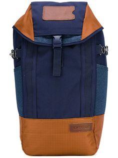EASTPAK colour-block backpack. #eastpak #bags #leather #polyester #backpacks #