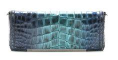 wardow.com - Roberto Cavalli, Class Julia Clutch Leder dunkelblau 29 cm