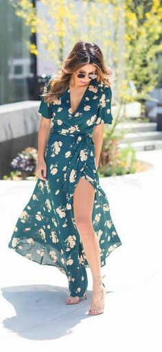 Baharın yeni trendi maxi çiçekli elbiseler! - Sabah