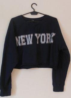 Kup mój przedmiot na #vintedpl http://www.vinted.pl/damska-odziez/bluzy/16849049-forever-21-crop-top-bluza-granatowa-38