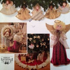 This uncut Simplicity #Christmas pattern allows you to deck your halls with handmade charm! Create your own tree topper, skirt or ornaments. Make an angel for your holiday table or to adorn your mantle.