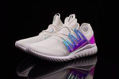 Adidas Tubular Radial Kids Iridescent White #sneakers #sneakernews