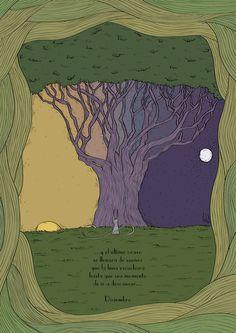 Diciembre: ...y el último ocaso se llenará de sueños que la luna escuchará hasta que sea momento de ir a descansar...