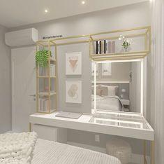 Room Design Bedroom, Girl Bedroom Designs, Small Room Bedroom, Room Ideas Bedroom, Home Room Design, Home Decor Bedroom, Bedroom Decor For Teen Girls, Teen Room Decor, Aesthetic Bedroom