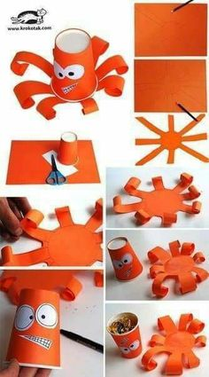 Paper cup octopus