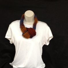 Hand made loom knitted adjustable earlthtone by knittedbydesign