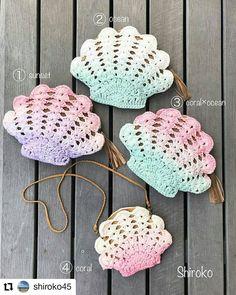 Pattern & Şablon Burada 👇🏻 on Instagr Crochet Seashell Applique, Crochet Flower Patterns, Crochet Bunny, Cute Crochet, Crochet Motif, Crochet For Kids, Crochet Designs, Crochet Yarn, Easy Crochet