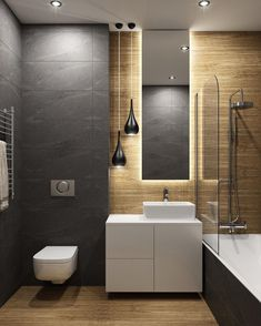 Dreaming of a luxury or designer bathroom? We've gathered together lots of gorgeous bathroom ideas for small or large budgets, including baths, showers, sinks and basins, plus bathroom decor ideas. New Bathroom Designs, Bathroom Design Luxury, Modern Bathroom Design, Bathroom Ideas, Modern Toilet Design, Modern Design, Bathroom Layout, Bad Inspiration, Bathroom Inspiration