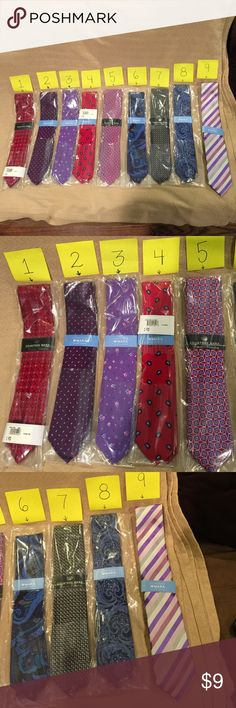 Countess Mara Ties Men's Countess Mara Ties Assorted colors. I have 2 of each color Available. They are Brand new never been used. Sold @ Macy's for $59-$24. Countess Mara Other