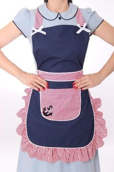 Toddler / Children Apron Personalized Handmade Denim and Accent Fabric of Choice Embroidery Applique With Ruffles Pockets and Rickrack Sewing Aprons, Sewing Clothes, Diy Clothes, Sewing Rooms, Retro Apron, Aprons Vintage, Jean Apron, Denim Crafts, Jean Crafts