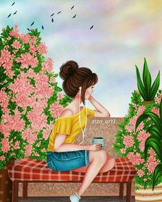 Im beautiful coz God makes no mistakes. Art Anime Fille, Anime Art Girl, Girl Cartoon, Cartoon Art, Sarra Art, Art Mignon, Girly M, Lovely Girl Image, Cute Girl Drawing