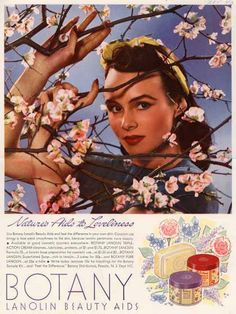 Botany Lanolin Beauty aids advert from 1950