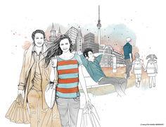 Illustrationen für die Berliner Verkehrsbetriebe BVG  by Eva-Maria Birkhoff Illustration, Anime, Art, Art Background, Kunst, Cartoon Movies, Illustrations, Anime Music, Performing Arts