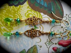 Absinthe Slender and intricate patinated brass filigree by qisma