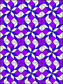 Love in a Mist block Patchwork Quilt Patterns, Batik Quilts, Crochet Square Patterns, Purple Quilts, Colorful Quilts, Log Cabin Quilt Pattern, Pattern Blocks, Half Square Triangle Quilts, Square Quilt