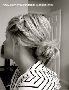 A quick messy braided hairstyle