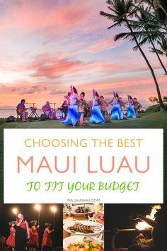 best Maui Luaus - Choosing the best Maui luau for your needs and budget Hawaii Vacation Tips, Hawaii Travel Guide, Trip To Maui, Maui Travel, Hawaii Honeymoon, Travel Pics, Travel Goals, Travel Usa, Travel Destinations