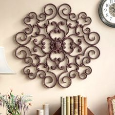 35 Iron Wall Decor Ideas You Will Enjoy - Page 17 of 36 - Her Special Days Window Wall Decor, Laundry Room Wall Decor, Tree Wall Decor, Flower Wall Decor, Compass Wall Decor, Cross Wall Decor, Wrought Iron Wall Decor, Iron Decor, Outdoor Metal Wall Decor