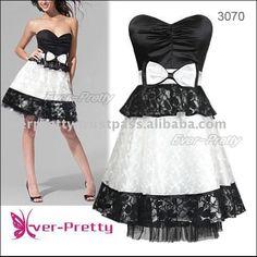 Sexy Black Baby Doll Dress Chiffon Dress Homecoiming Dresses All