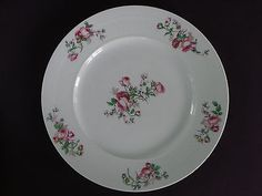 Set-of-5-Antique-Limoges-CF-Haviland-GDA-9-3-4-Dinner-Plates-Pink-Roses-c-1900