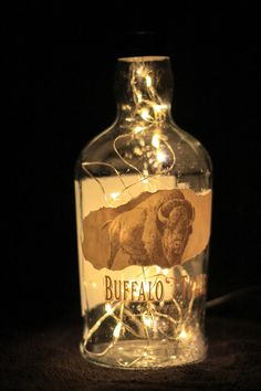 Buffalo Trace bourbon lamp by TheSunroom252 on Etsy