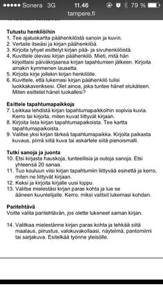 Tehtäviä kirjasta Book Projects, Reading Comprehension, Language, Classroom, Teacher, Writing, Education, School, Books
