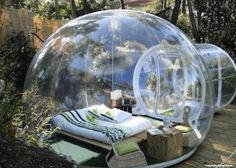 Glass Igloo in Finland. It could be great to chill out there:)
