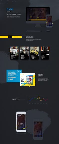 Regame (www.ro) is a project we started from nothing. Regame is the perfect place for gamers to buy and sell used games. Portfolio Web Design, Art Director, Perfect Place, Dan, Games, Projects, Log Projects, Blue Prints, Gaming