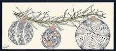 Deep Magic Tangles: Christmas Card Workshop
