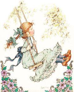 "Photo from album ""Sarah Kay"" on Yandex. Sarah Key, Holly Hobbie, Australian Artists, Illustrations, Cute Illustration, Vintage Pictures, Vintage Children, Coloring Pages, Childhood"