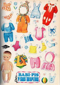 En nuestra Revista Foroesther incluyo cada mes uno de los recortables que ruguera publicaba en sus Lilys allá a principios de los setenta. H... Barbie Paper Dolls, Vintage Paper Dolls, Vintage Toys, Clay Dolls, Felt Dolls, Doll Toys, Paper Art, Paper Crafts, Paper Dolls Printable