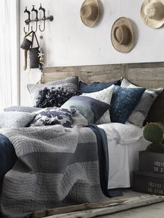 Love this bedroom - especially the bedding