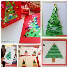 Learn with Play at Home: 25 Christmas Card ideas Kids can make.