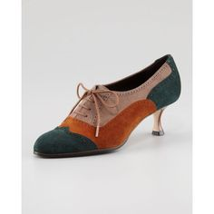 Manolo Blahnik Catia Colorblock Oxford Pump