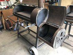 Homemade reverse flow smoker in Diy Smoker, Bbq Pit Smoker, Homemade Smoker Plans, Homemade Bbq Grills, Custom Bbq Smokers, Backyard Smokers, Smoker Cooker, Parrilla Exterior, Bbq Smoker Trailer